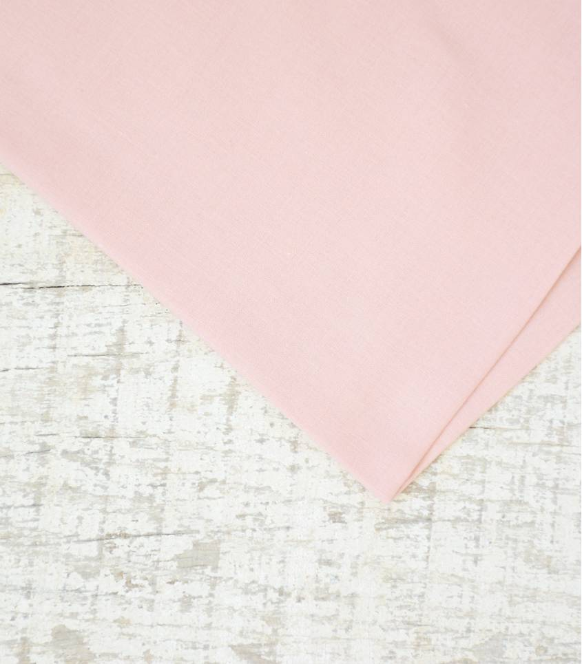 Voile de coton rose nude