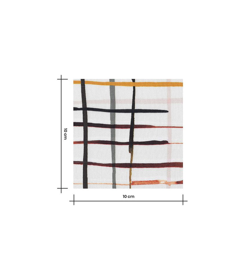 Tissu viscose - Tiles paint