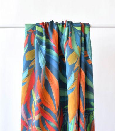 Tissu satin de coton - Flume Orange Dark