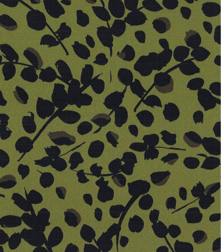 Tissu satin de viscose - Green Leaves