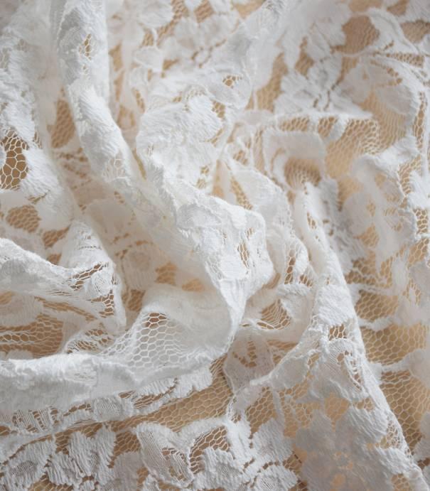Tissu dentelle Aurora - écru