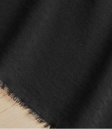 Tissu light Diamond Jacquard - Black