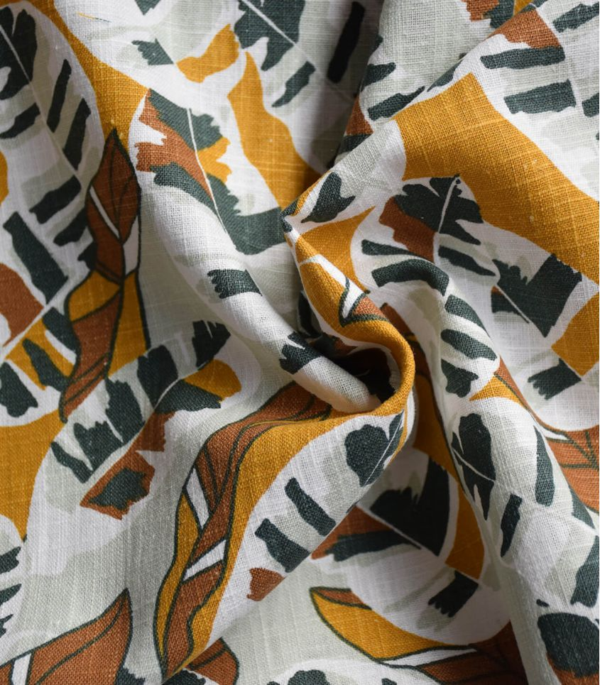 Tissu Lin viscose lavé - Banana tree green