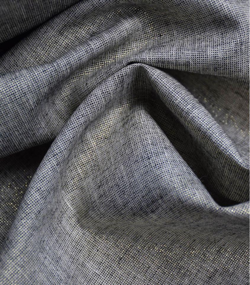 Tissu Lin coton lurex - Black