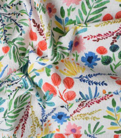 Tissu jacquard de coton fin - Primavera Lively