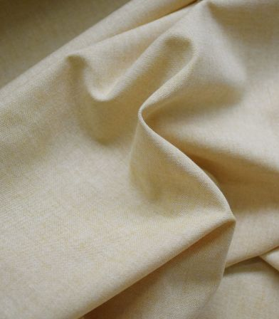 Tissu chambray poly coton - Paille