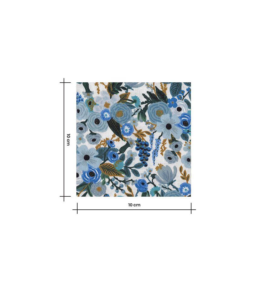 Tissu Petite Garden Party - Blue