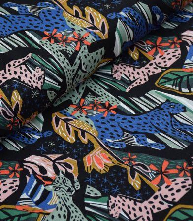 Tissu Canvas - Jungle Royals