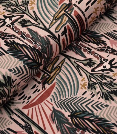 Tissu Canvas - Savannah Dwellers