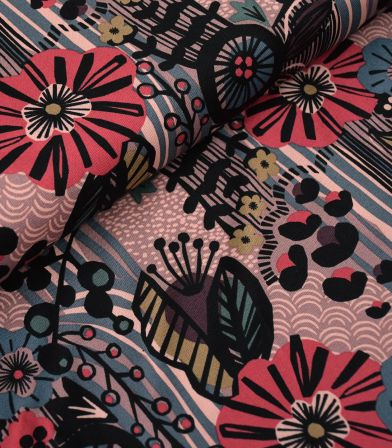 Tissu Canvas - Way of flower