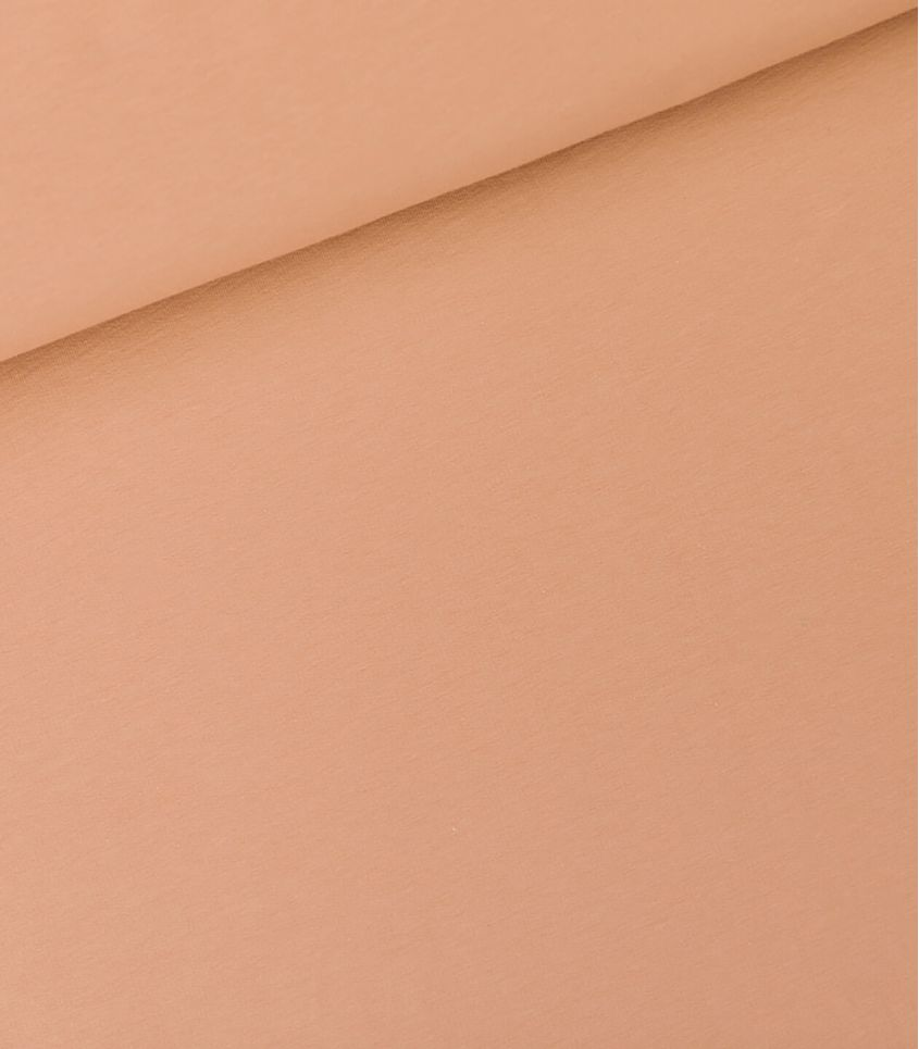 Tissu French terry - Café crème