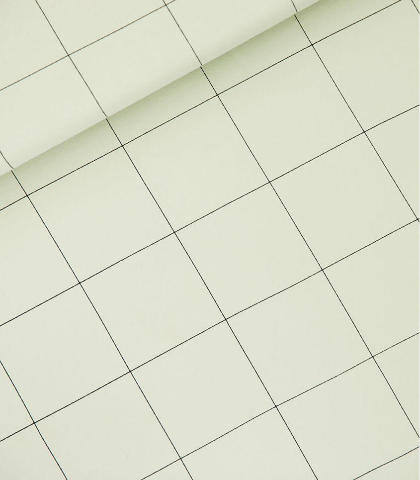 Tissu French Thin grid XL - Green fog