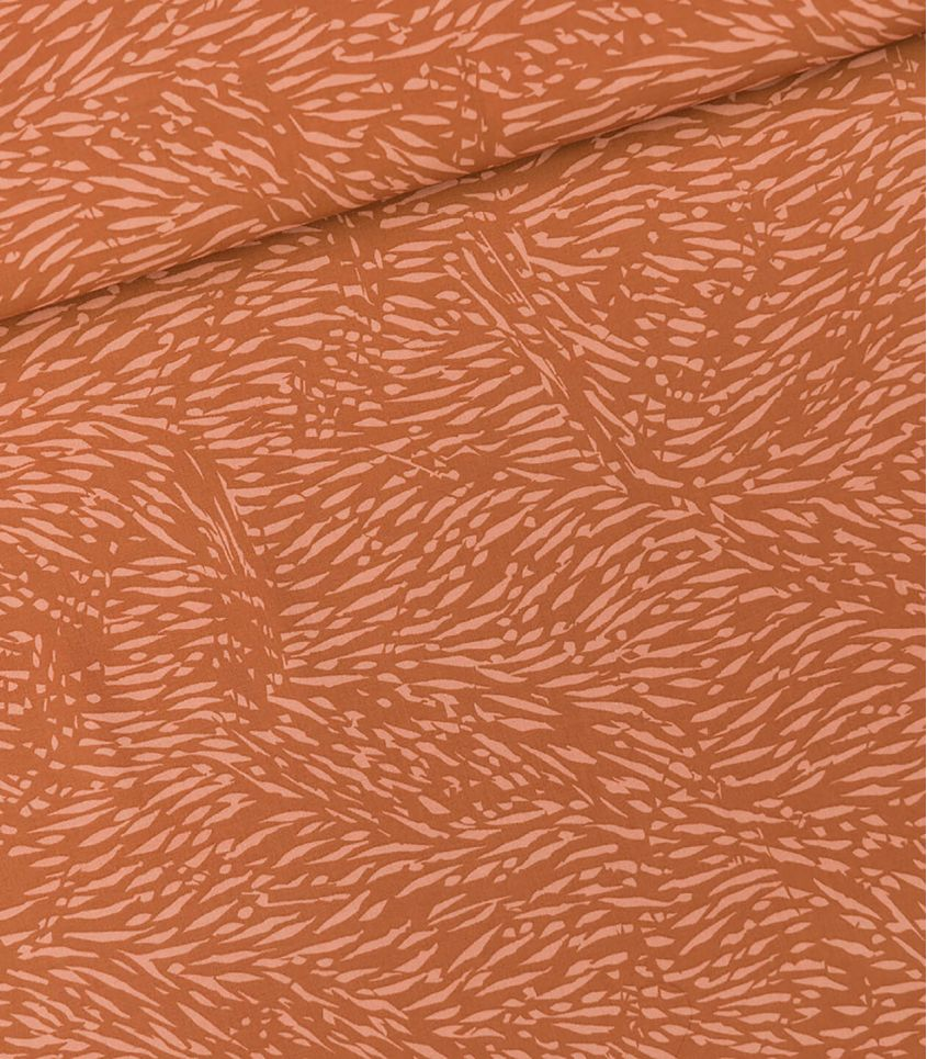Tissu viscose Flecks - Pecan brown