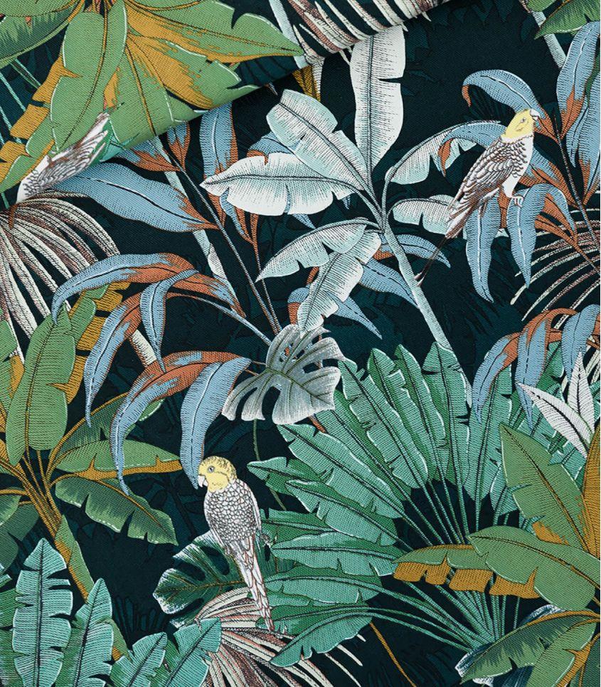 Tissu cotton canvas Jungle - Green gables
