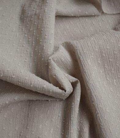 Tissu plumetis crinkle - Sand