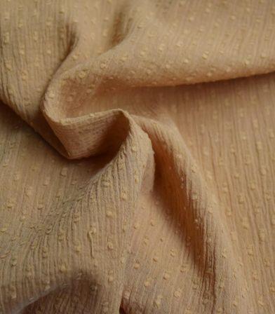 Tissu plumetis crinkle - Caramel
