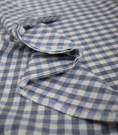 Carreaux Panama stretch- Bleus/gris