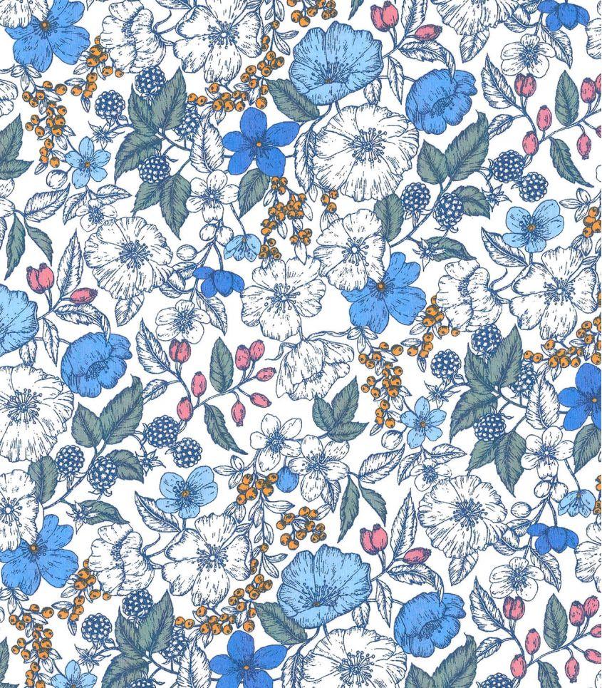Tissu Liberty Bramble - blue