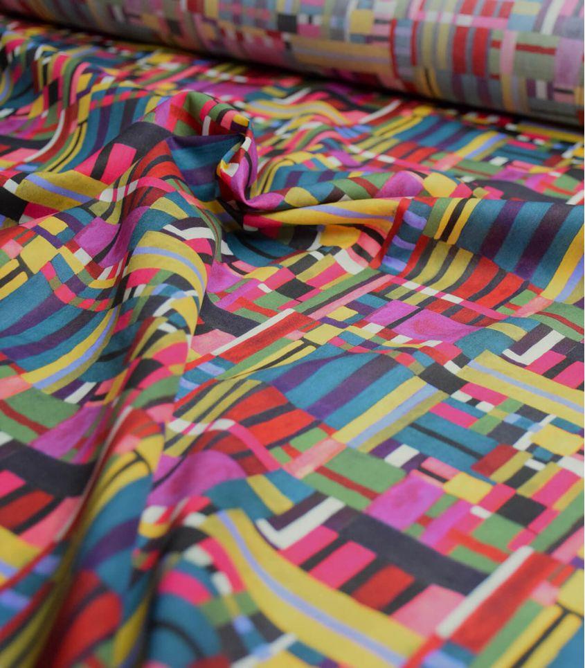Tissu Liberty Patchwork canvas - rose