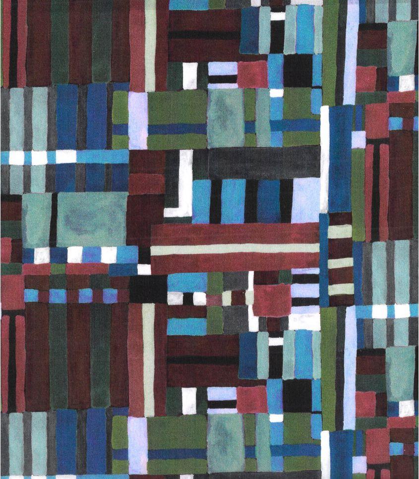 Tissu Liberty Patchwork canvas - bleu