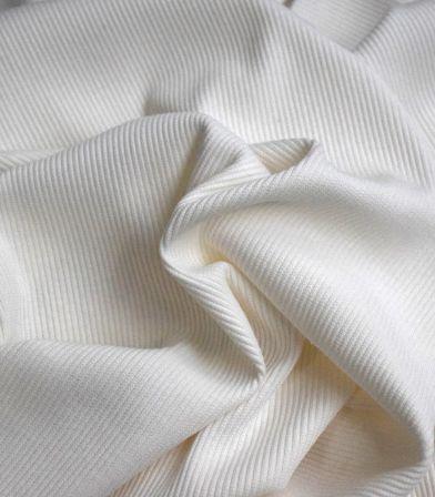 Jersey côtelé - Off white