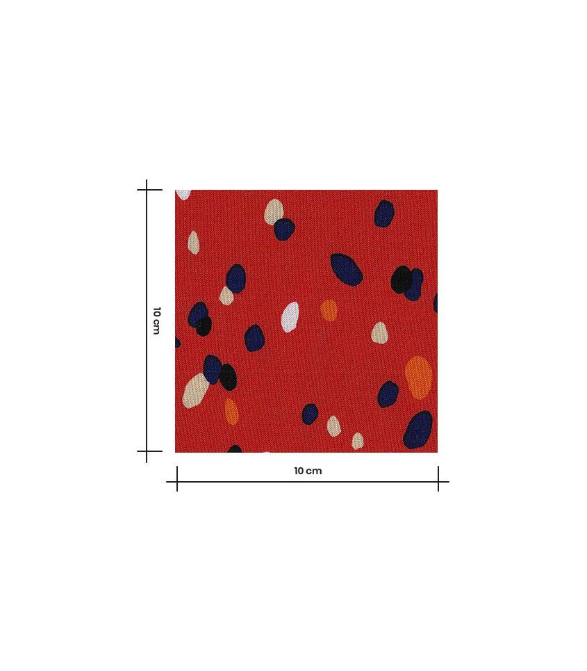 Tissu viscose confetti - vermillon