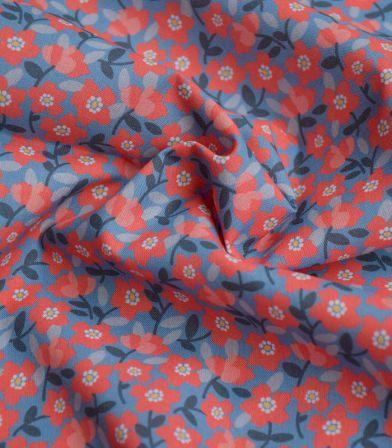 Tissu popeline coton - Petites anémones