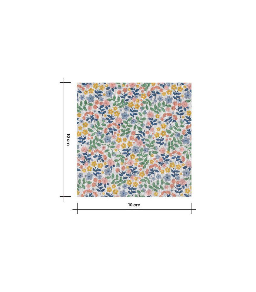 Tissu popeline coton - Petites fleurs multico