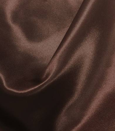 Tissu doublure satin chocolat