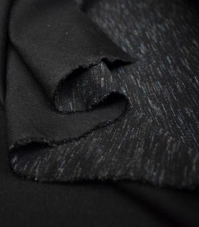 Tissu Jersey Milano fin - flammé noir