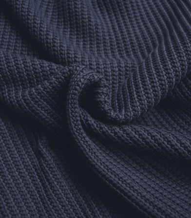 Tissu Jersey maille - marine