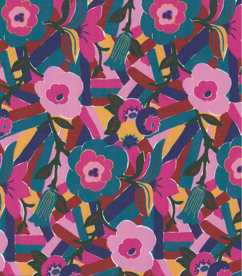 Tissu Liberty Bloomsbury - fuchsia