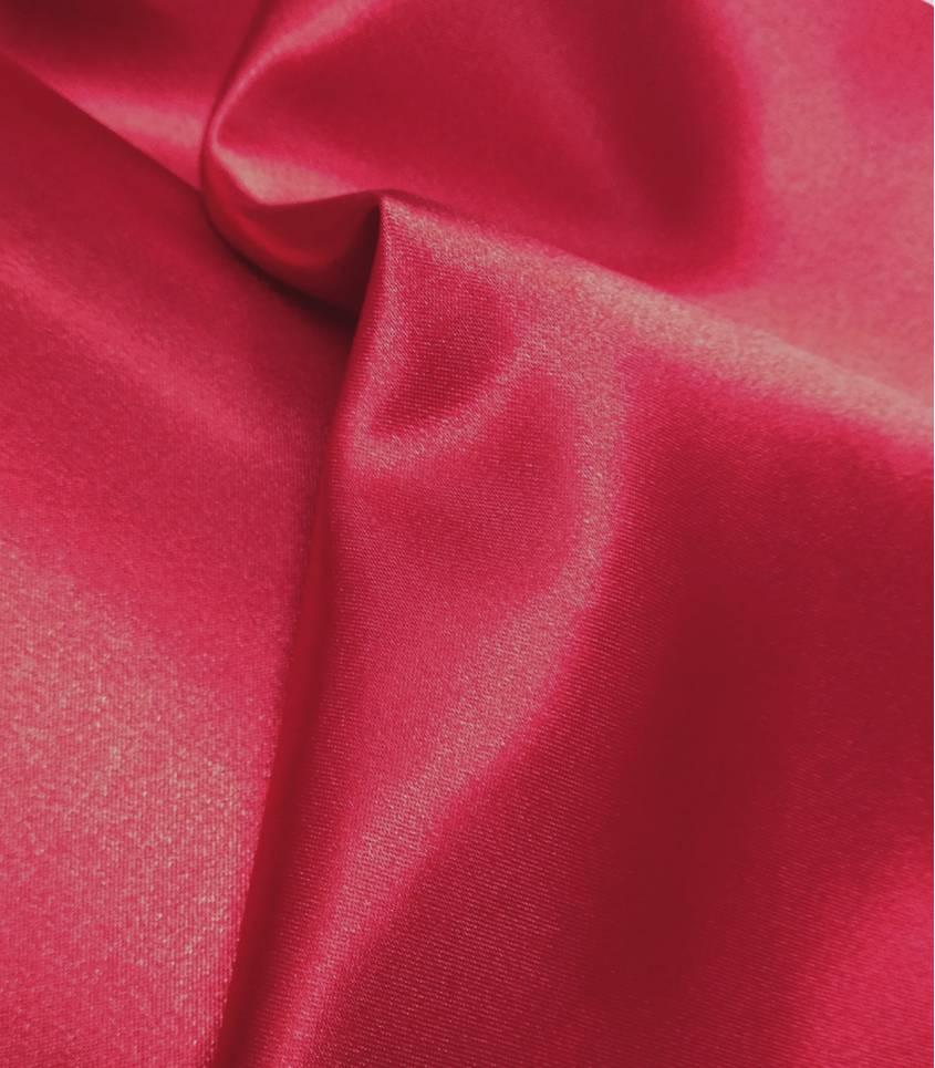 Tissu doublure satin rubis