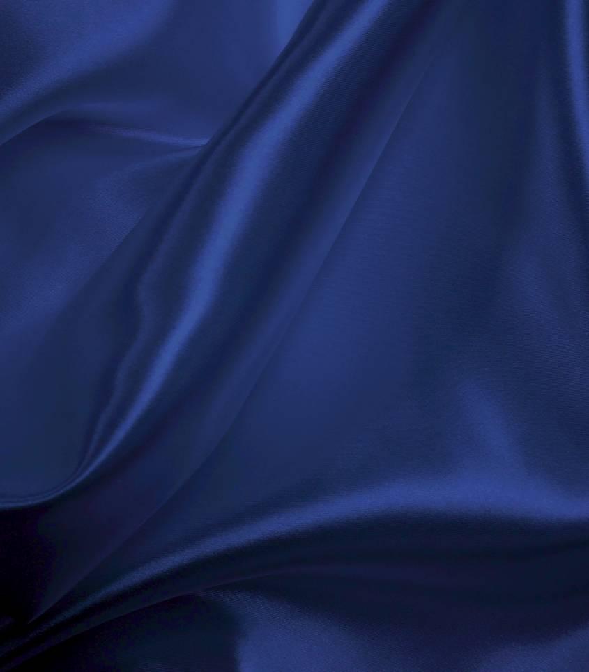 Doublure satin bleu roi