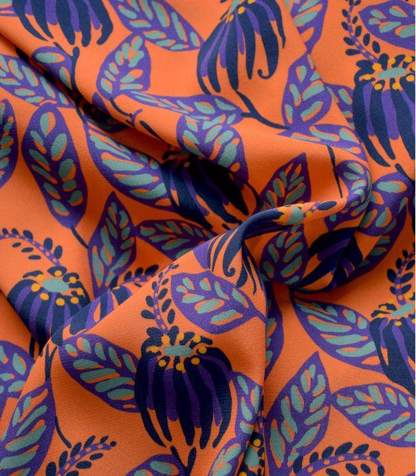 Tissu crêpe de viscose - Droopy flowers