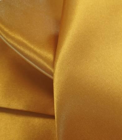 Tissu doublure satin moutarde
