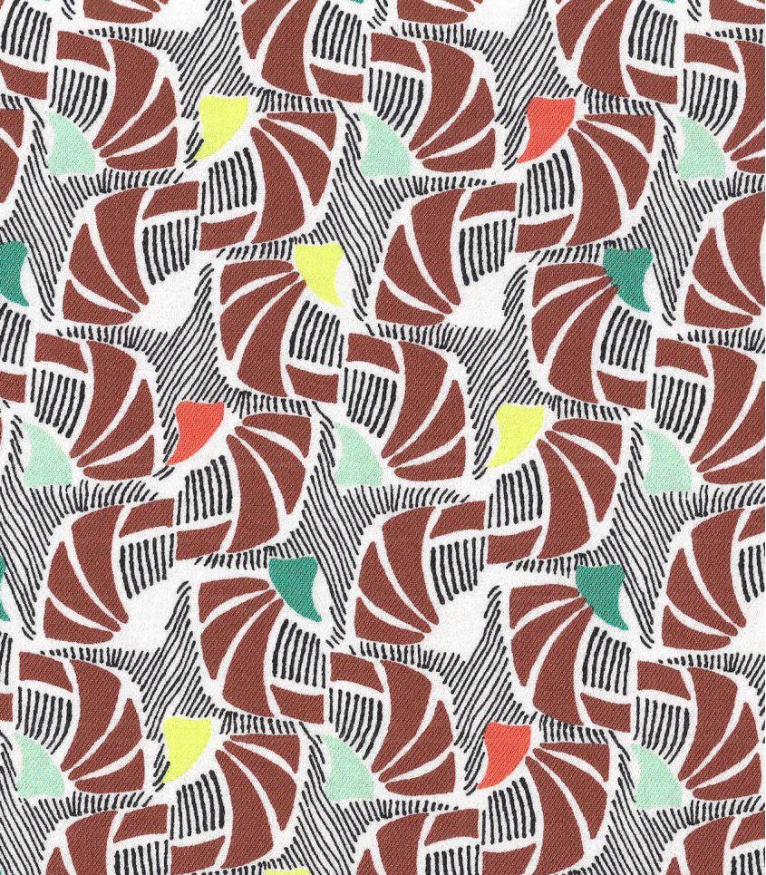 Tissu twill viscose African retro