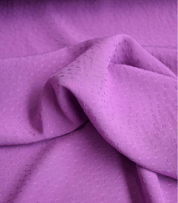 Tissu viscose Jacquard - Rice Purple