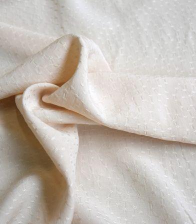 Tissu viscose Jacquard - Rice Crème
