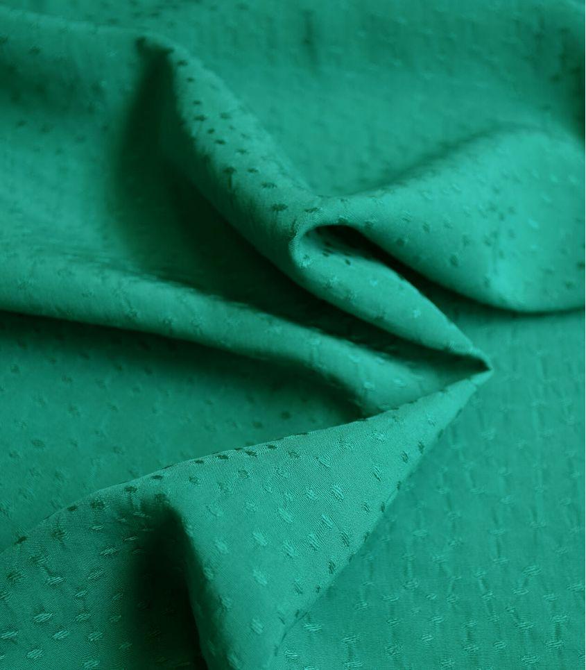 Tissu viscose Jaquard - Rice Emeraude