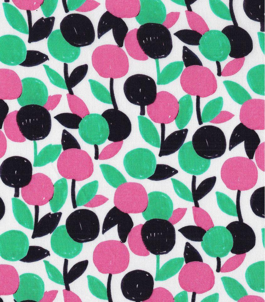 Tissu viscose - Flashy cherry