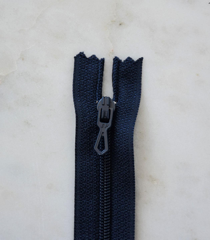 Fermeture Invisible 18 cm Bleu Marine Maille 3 mm