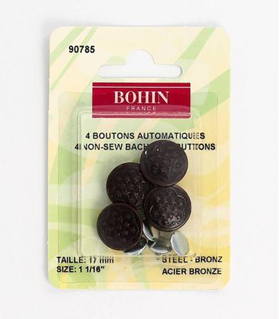 Boutons Jean étoiles 17mm - bronze