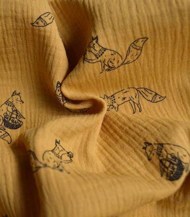 Tissu Double gaze - Foxes