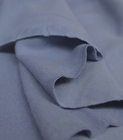 Tissu soft French terry uni - County Blue