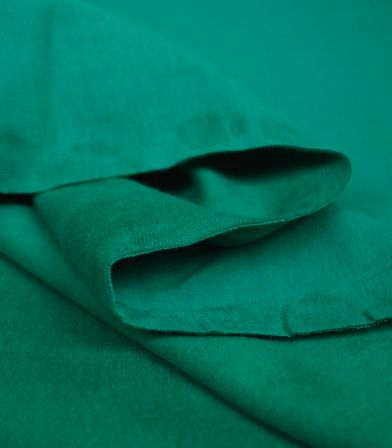 Tissu soft French terry uni - Holly green