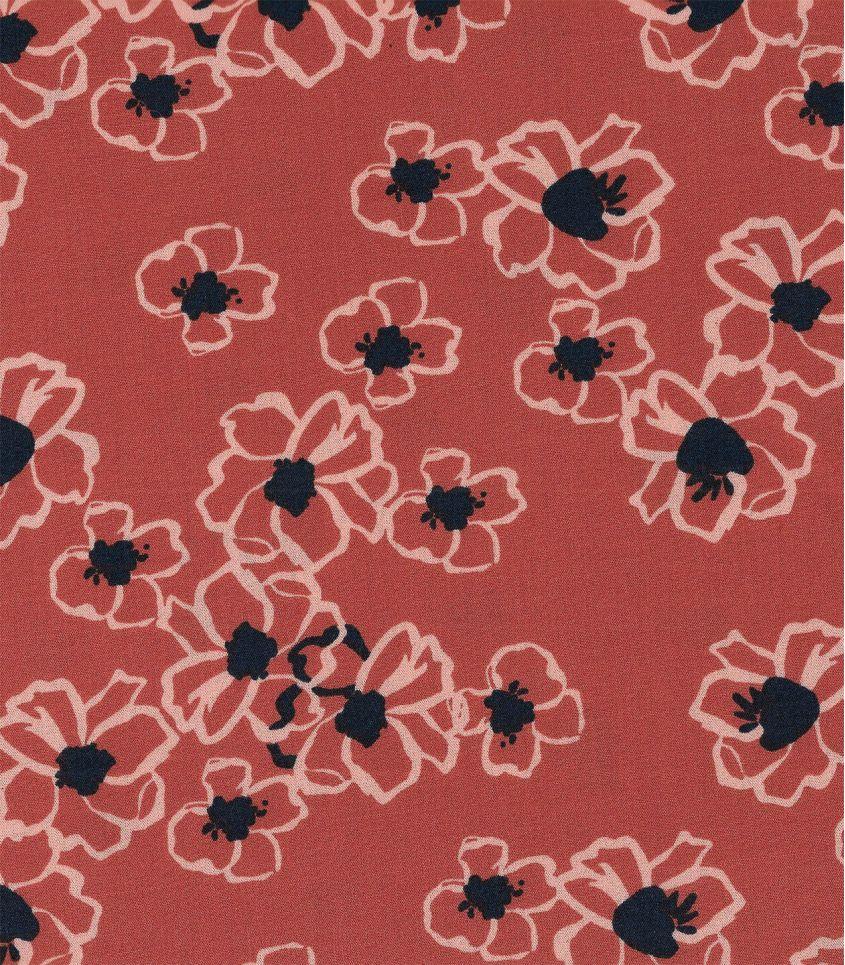 Tissu viscose élasthanne - Anémone blush