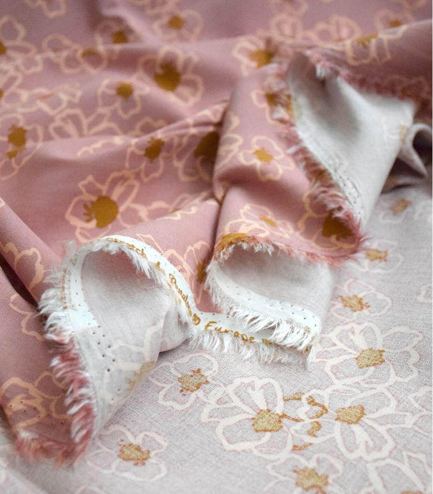 Tissu viscose élasthanne - Anémone pink