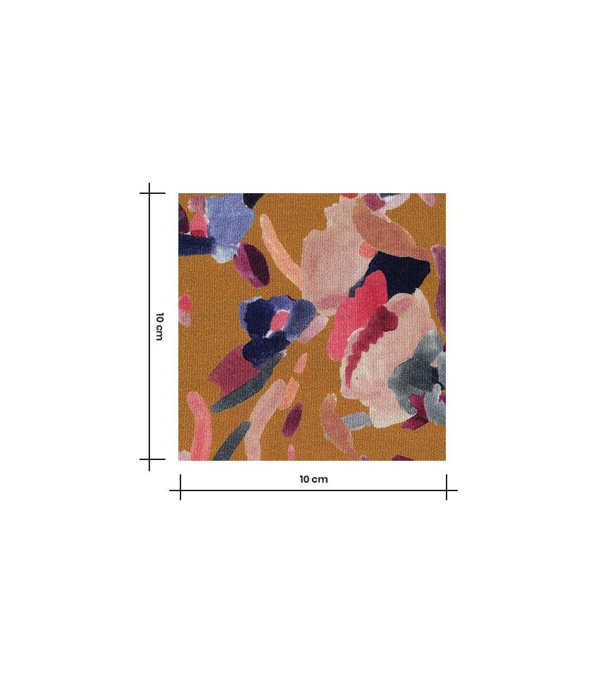Tissu jersey viscose - Digital Ochre