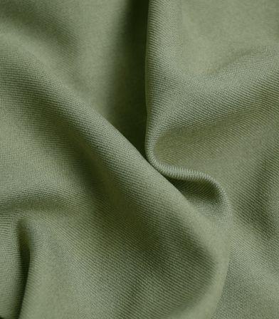 Tissu twill viscose mélange - Kaki